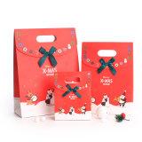 Bolsa de papel portable de encargo barata del regalo, bolsa de papel que hace compras, bolso del regalo de la Navidad