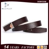 Cinghie dell'inarcamento personalizzate cinghia del metallo del cuoio genuino per gli uomini
