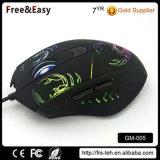 땋는 케이블 Backlit PC 마우스 도박