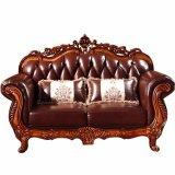 Sofá de cuero fijado para los muebles de la sala de estar (929R)