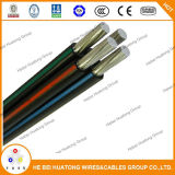 Triplex/Quadruplex AAC Conductor XLPE Insulated ACSR Netural Service Drop Cable