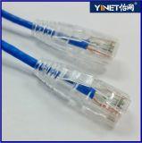 Câble pur 20FT de réseau Ethernet de l'en cuivre CAT6 28AWG UTP