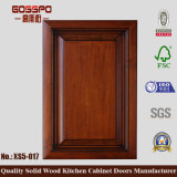 Porte d'acajou de Module de cuisine en bois solide (GSP5-017)