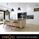 De Kabinetten van de Opslag van de keuken met Scherpe het Schilderen ontwerp en Solidwood tivo-0225h