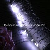 電池式7.87FT長い銀製カラー超薄い銀製ワイヤーで電池式タイマーが付いているLED 20の暖かい白色光