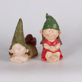 Figurines leggiadramente della decorazione del giardino della resina con il fungo