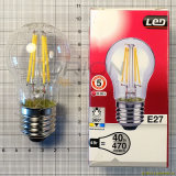 Bulbo clásico de Edison del filamento de la vendimia LED de A60 6W 4000k Dimmable