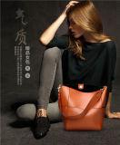 Sacchetto/borsa di cuoio della benna del Drawstring dello stilista