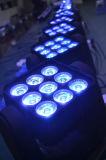 Lumière 2016 principale mobile populaire de la matrice DEL du projecteur 9PCS*10W 3*3