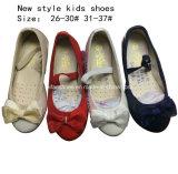 I bambini adattano a Bowknotballet dolce i pattini di vestito piani dalla ragazza della ballerina (mm171)