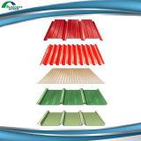 屋根または屋根ふきシートのための建築材のカラーによって塗られる電流を通された鋼鉄