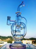 Conduite d'eau de fumage en verre neuve de plates-formes pétrolières de TAPE d'oeufs de Faberge de recycleur de Pyrex de Borosilicate d'arrivée