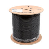 Cable de red Cat5e para exteriores en negro PE
