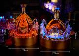 Visualización de acrílico encendida LED de la botella del licor que brilla intensamente
