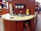 Encimera superficial sólida de acrílico de la venta de la tienda al por menor