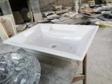 مطبخ/غرفة حمّام/تفاهة طبيعيّة حجارة أسود رخاميّة يغسل بالوعة وحوض