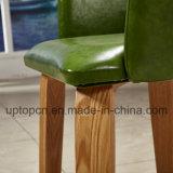 Presidenza di legno del ristorante con lo schienale di verde verde oliva e la tappezzeria (SP-EC862)
