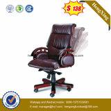 Стул офиса высокого стула босса PU задней части деревянный (HX-CR001)