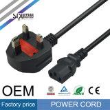 Câble normal de puissance des ordinateurs d'UE de cordon en gros d'alimentation AC de Sipu