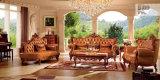 Софа комнаты античной мебели живущий с мебелью софы неподдельной кожи