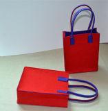"""9.5 """" *7.5 """"の*3 """"カスタム赤のフェルトの本のハンドバッグ、ショッピングを用いるフェルト袋、Non-Woven袋"""