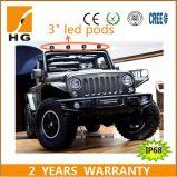 12W lumière de travail du CREE DEL de 20W 3D 3 '' pour le Wrangler de jeep