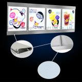 Casella chiara di cristallo del menu caldo di vendita LED