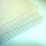 Feuille creuse de nid d'abeilles de Lexan 6mm-12mm de polycarbonate avec l'enduit UV