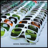 二酸化炭素レーザー/VのためのEyewearを保護する10600nmレーザーの安全ガラスレーザー。 L.T 90% /with灰色Frame55
