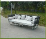 Sofa extérieur de jardin de polyester en aluminium Polished moderne de meubles (CF834)
