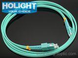 Sc aan de DuplexOm3 10g Kabel van het Flard van de Vezel LC Optische