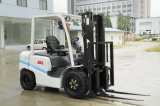 新しいモデル2-4ton LPG/Gas/Dieselforkliftのスペース節約のためのデザイン