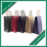 Kraft marrón de compras bolsa de papel de embalaje