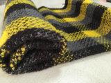 Ткань Stock ткани шерстей проверки желтая & черная шерстяная