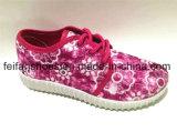 Zapatos del calzado de los deportes de los zapatos de lona de la inyección de la marca de fábrica del OEM (FFCS111903)