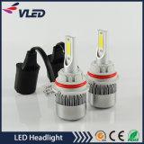 Faróis H1 do diodo emissor de luz do carro 36W 3800lm Zes C9 dos acessórios das peças de automóvel õs, H3, H4, H7, H11, 9005, 9006, 9004 9007, H13