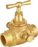 A temperatura do fio bidirecional da válvula de esfera de bronze (12mm)