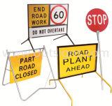 携帯用屋外のワーク・サイトの道路工事の安全振動立場の危険信号、振動立場の印