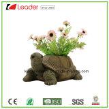 Crisol del plantador del jardín de la tortuga para la decoración al aire libre, hecho del material de Polyresin