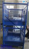 Cage de treillis métallique/récipient d'entreposage compressibles en acier pour la crémaillère de palette