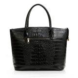 Sacchetto di Tote delle donne del sacchetto della maniglia della parte superiore di modo della borsa del cuoio del coccodrillo del progettista