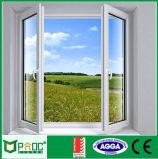 Doppia finestra lustrata di alluminio Finished di superficie Pnoc0025cmw della stoffa per tendine