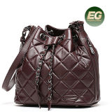 Späteste weiche Frauen-Handtaschen Soem-Fabrik Emg4912 der Entwerfer-Rasterfeld-Dame-Bucket Bags Real Leather
