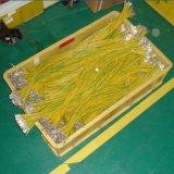 ワイヤーケーブルのための高精度の切口のストリップのターミナルひだが付く機械