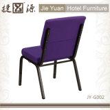 本の袋(JY-G002)が付いている紫色のスタッキング教会椅子