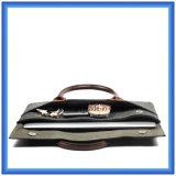 Heißer fördernder kundenspezifischer Wolle-Filz-Laptop-Aktenkoffer-Laptop-Beutel mit bequemem PU-Leder-Griff (Wolleinhalt ist 70%)
