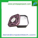 Contenitore impaccante su ordinazione di regalo dell'imballaggio di colore del contenitore di coperchio dell'alto & del basso della carta patinata
