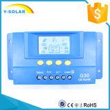 célula del panel solar de 30A 12V/24V picovoltio del regulador de la carga con el contraluz G30