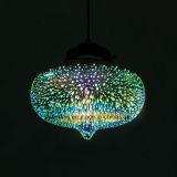 Neue hängende hängende Lampe 2017 mit Glasfarbton 3D für dekoratives