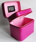 الجديدة [رترو] جذّابة بنية مجوهرات جلد مستحضر تجميل صندوق